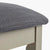 The Padstow Stone Grey Dressing Table Stool  -  Side on view of Seat