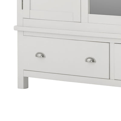 The Padstow White Triple Wardrobe - Close Up of Drawer Front