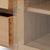 Close up of glass door on Falmouth Oak 90cm TV Stand by Roseland Furniture
