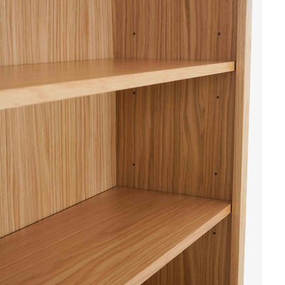 Falmouth Oak close up of fixed shelves