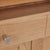 Close up of the single drawer on the Falmouth Oak Mini Sideboard