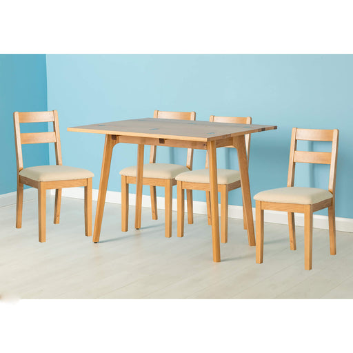 Nordic Oak Folding Table Dining Set ( 4 Chairs )