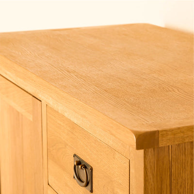 Lanner Oak Combination Wardrobe unit top view