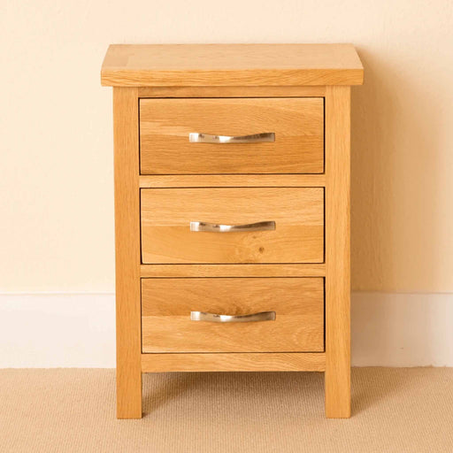 Newlyn Oak Bedside Table by Roseland Furniture