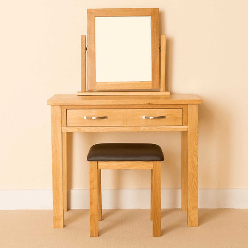 Newlyn Oak Dressing Table Set by Roseland Furniture