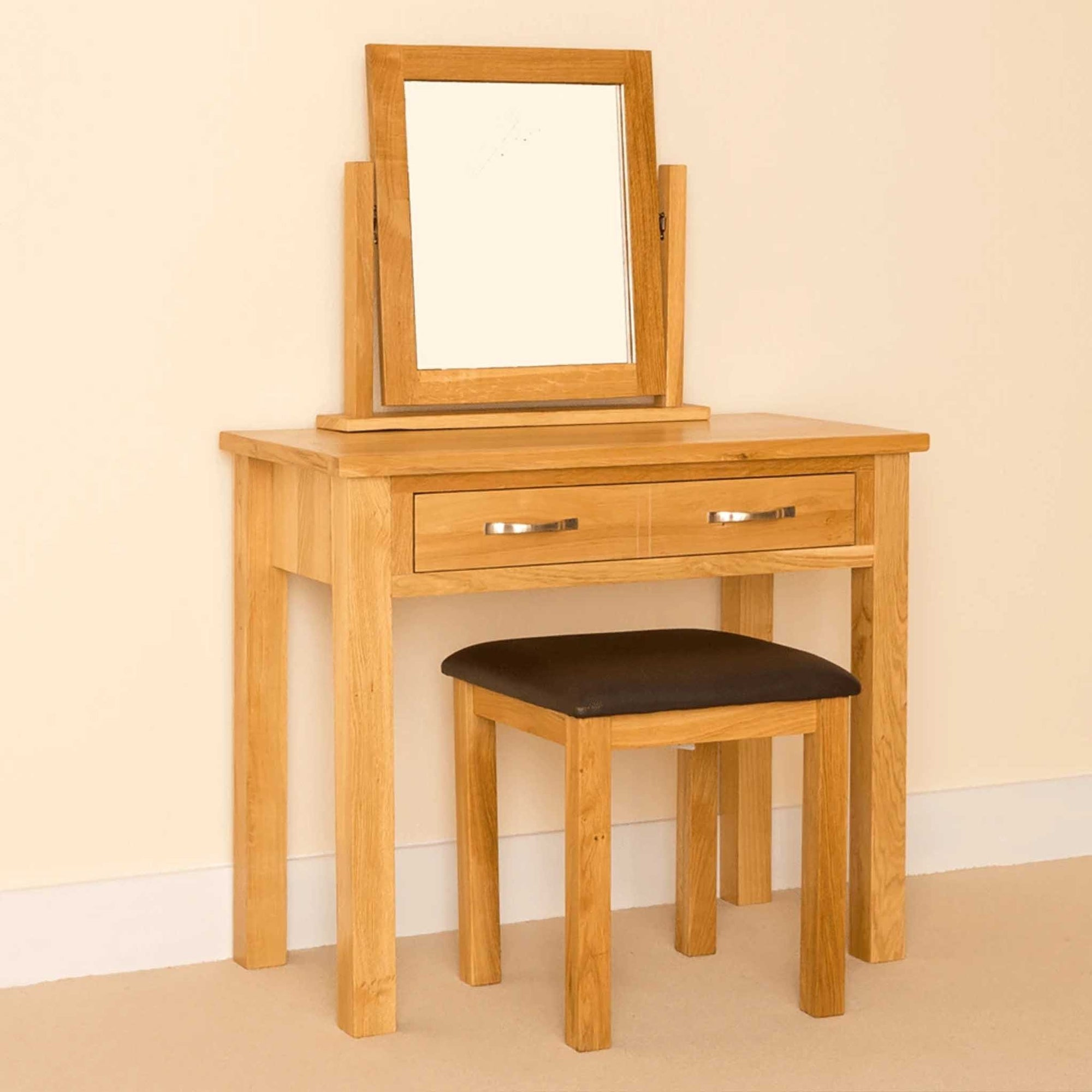 Newlyn Oak Dressing Table Set