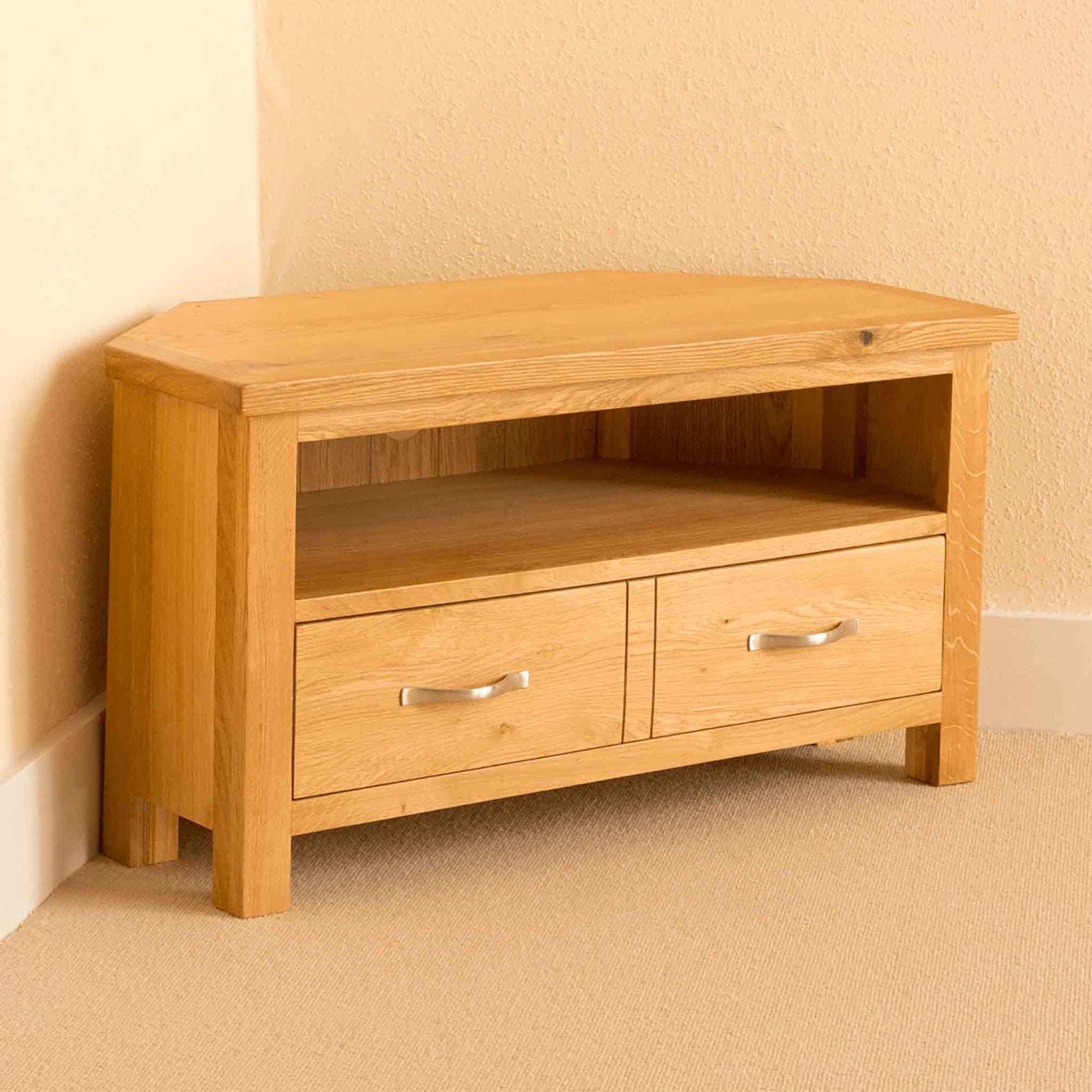 Newlyn Oak Corner TV Stand by Roseland Furniture