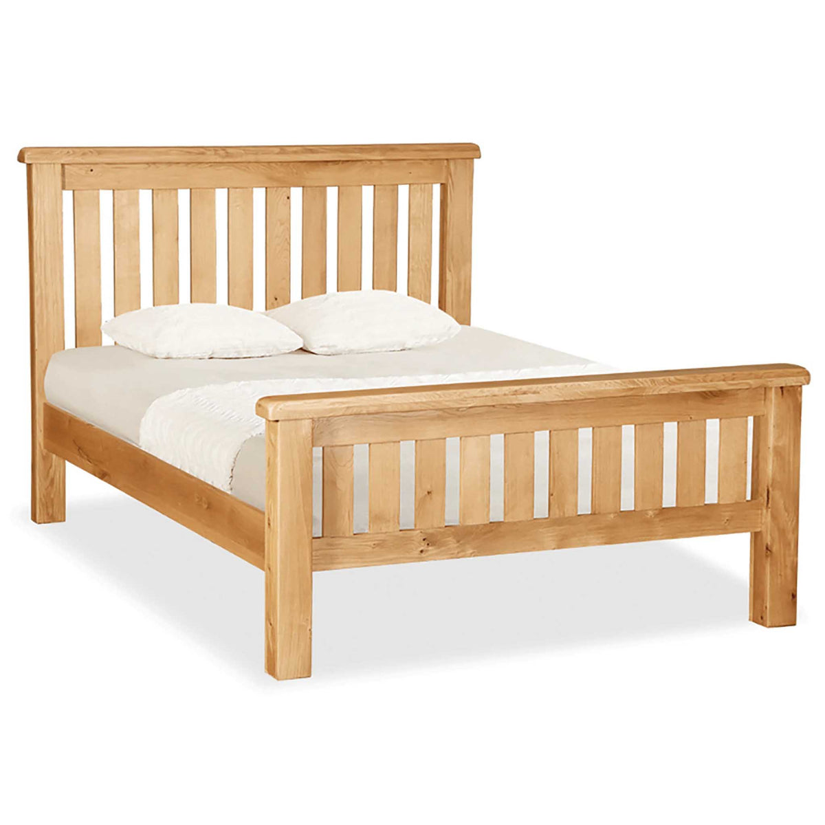 Zelah Oak 5' Slatted Bed by Roseland Furniture