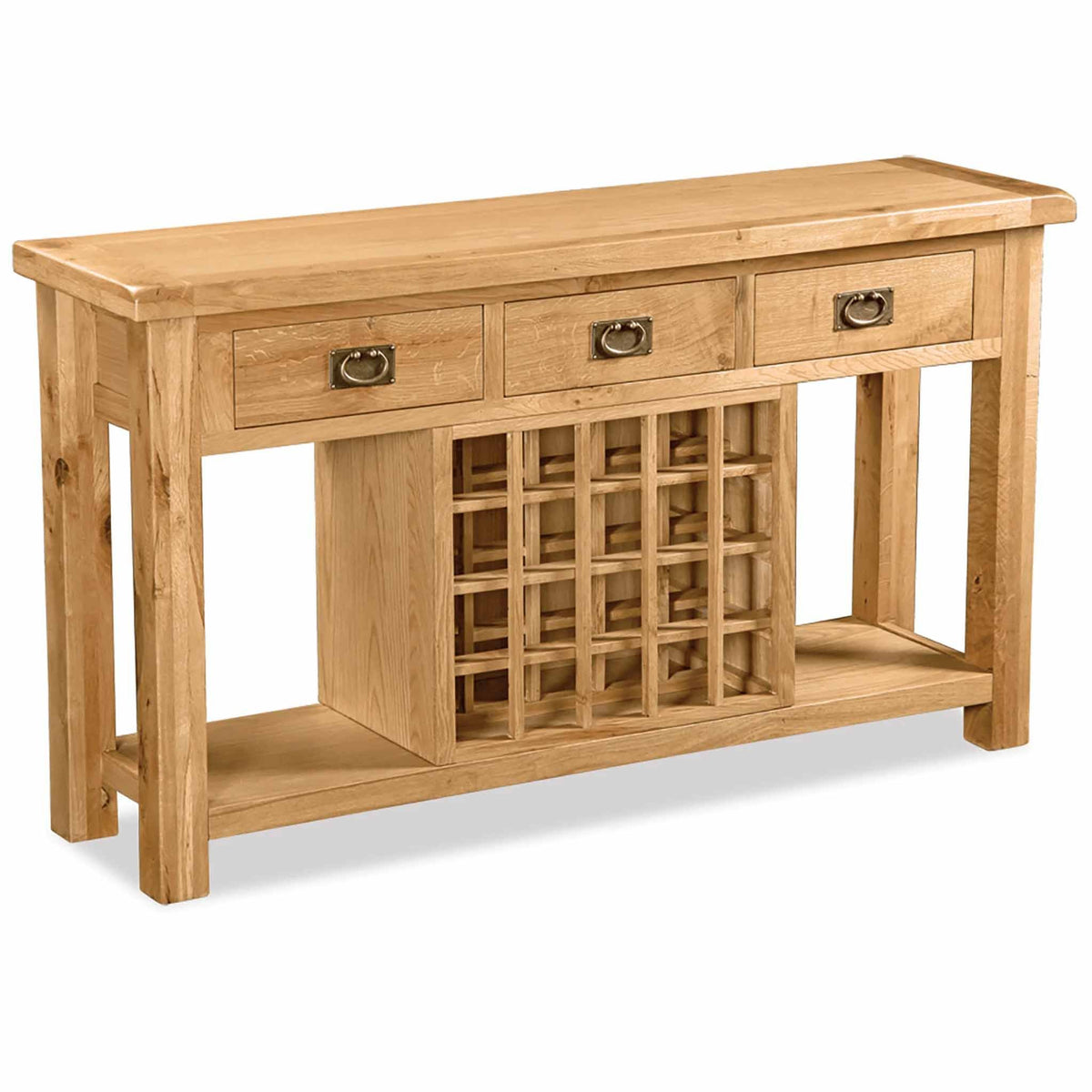 Zelah Oak Open Sideboard by Roseland Furniture