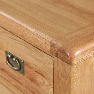 Top corner - Zelah Oak Open Sideboard