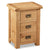 Zelah Oak Wide Bedside Table by Roseland Furniture