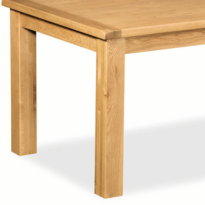 Zelah Oak 180cm Dining Table - Close Up of Legs of Table