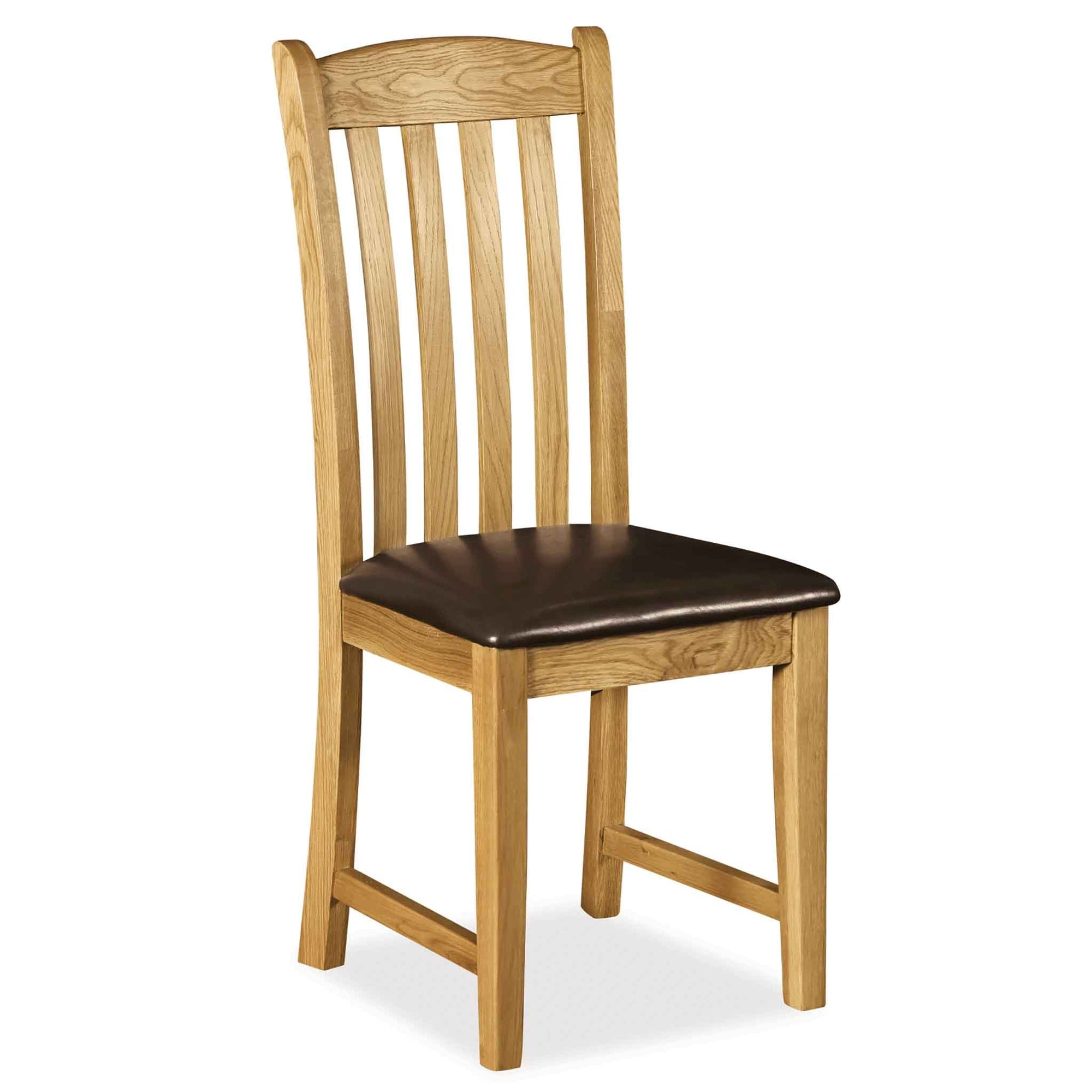 Zelah Oak Slatted Back Dining Chair by Roseland Furniture