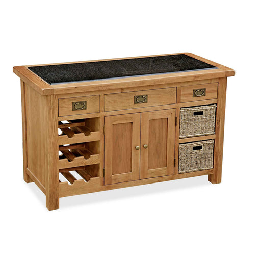 Zelah Oak Kitchen Island by Roseland Furniture