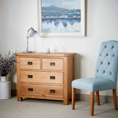 Zelah Oak 2 over 2 Drawer Chest