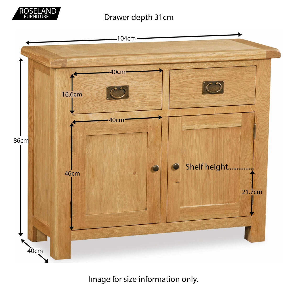 Zelah Oak Small Sideboard