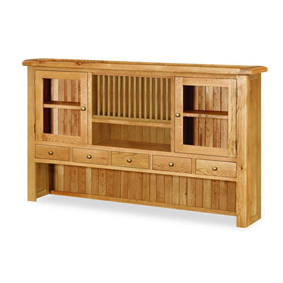 Zelah Oak Extra Large Hutch by Roseland Furniture