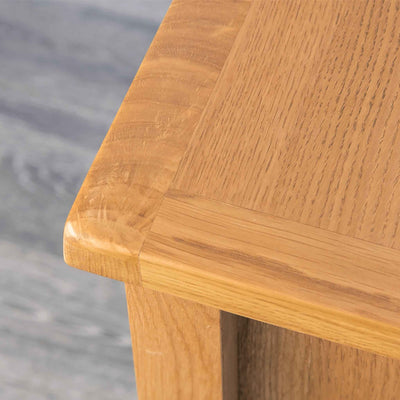Top corner - Surrey Oak Telephone Table