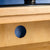 Cable hole - Surrey Oak waxed TV stand 90cm