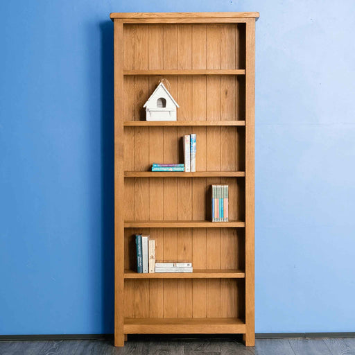 Surrey Oak Large Bookcase by Roseland Furniture