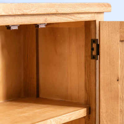 Interior of Surrey Oak Small Cupboard