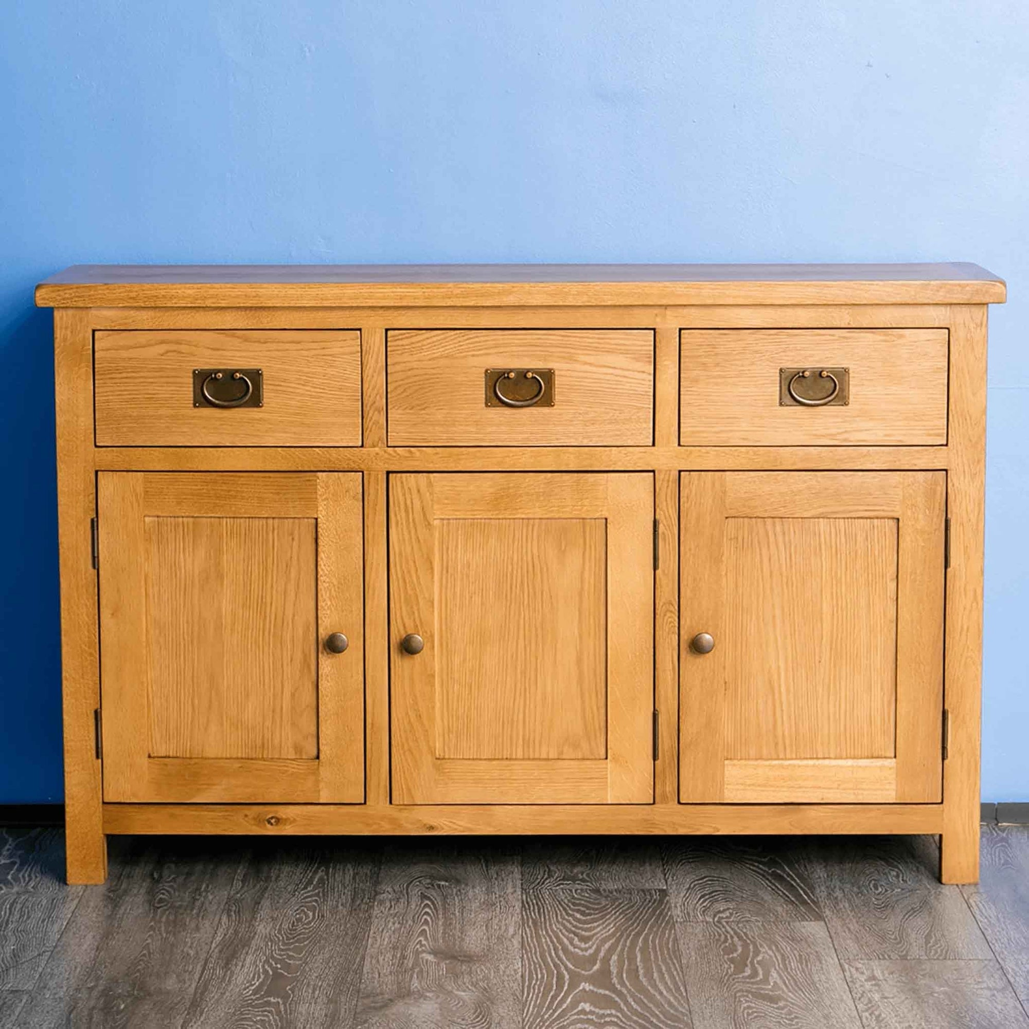 Surrey Oak Large Sideboard - Lifestyle