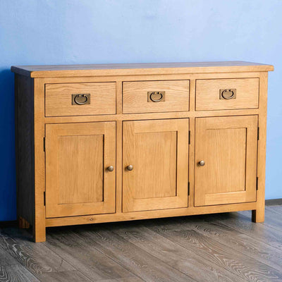 Surrey Oak Large Sideboard - Lifestyle side view