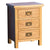 Surrey Oak 3 piece bedroom - Bedside Chest