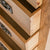 Surrey Oak 5 drawer tallboy chest of 5 drawers - Close up of drawers while open