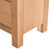 Surrey Oak 5 drawer tallboy chest of 5 drawers - Close up of  feet of tallboy