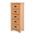 Surrey Oak 5 drawer tallboy chest of 5 drawers - Side view