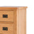 Drawer closeup - Surrey Oak waxed 5 drawer tallboy chest