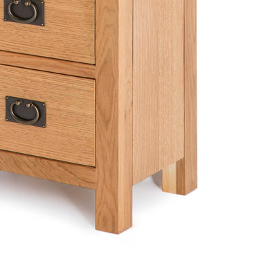 Drawer handle - Surrey Oak waxed 5 drawer tallboy chest