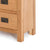 Surrey Oak 5 drawer tallboy chest of 5 drawers - Close up of base of tallboy