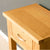 Top surface of the London Oak Telephone Table by Roseland Furniture