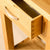Dovetail joints on the London Oak Telephone Table by Roseland Furniture