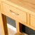 Drawer on the London Oak Console Table by Roseland Furniture