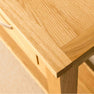 Close up of the London Oak Console Table by Roseland Furniture