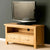 Side view of the London Oak 90cm TV Stand by Roseland Furniture