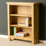 The London Oak Small Bookcase with books