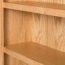 Close up of the top of a London Oak Small Bookcase