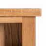 Close up of the shelves on a London Oak Small Bookcase