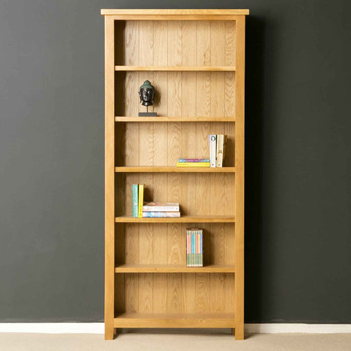 The London Oak Large Bookcase designed by Roseland Furniture