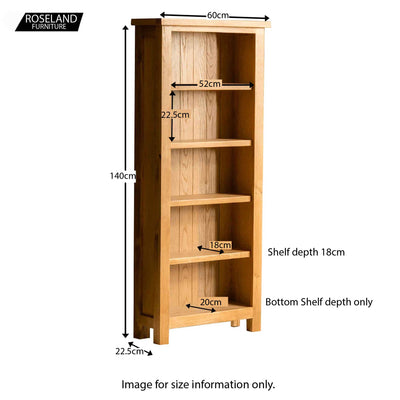London Oak Slim Bookcase