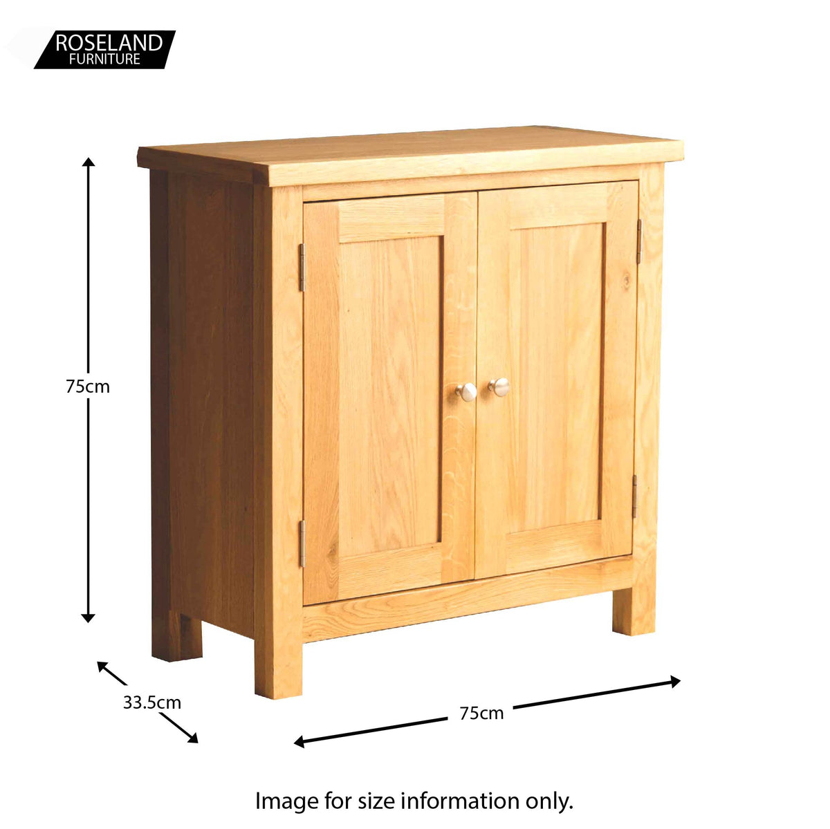 The London Oak Cupboard - Size guide