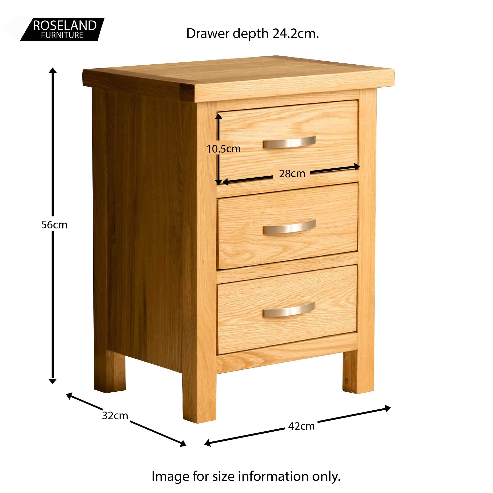 Picture of: London Oak Bedroom Set Chest Of Drawers Wardrobe Bedside Oak Roseland Furniture