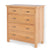 London Oak 2 over 3 Drawer Chest - Side view