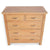 London Oak 2 over 3 Drawer Chest - Looking down on top of Chest