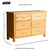 London Oak Large 6 Drawer Chest of Drawers - size guide