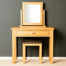 London Oak Dressing Table Set front view.